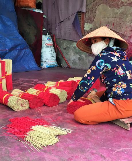 Quảng Phú Cầu, le village de l'encens