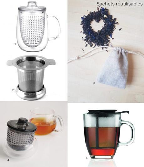 gestes éco responsables dans la cuisine thé réutilisable filtre sachet infuseur - clem around the corner