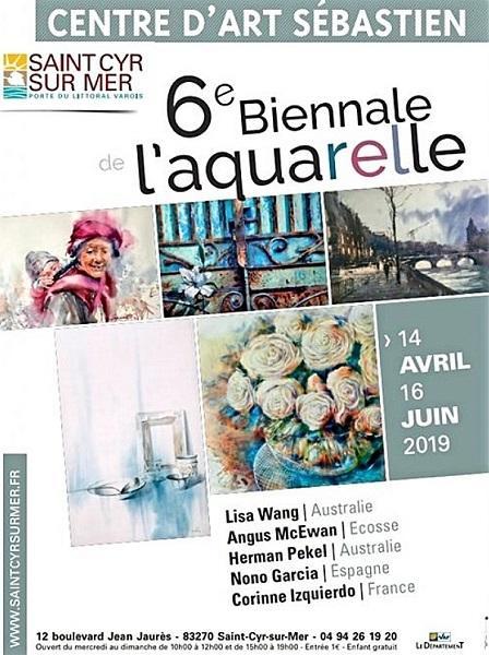 Sixième biennale d'aquarelle de Saint-Cyr-sur-Mer (Var)