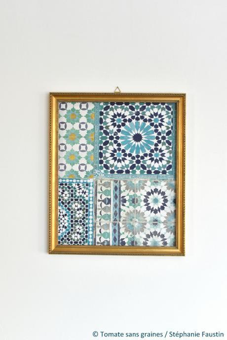 Fabriquer un tableau décoratif en papier peint