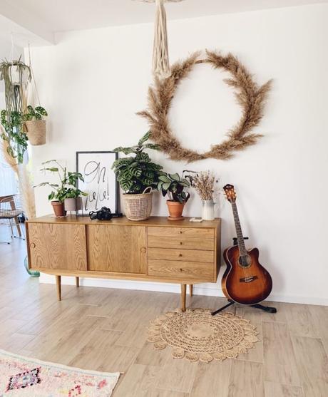 l'herbe de la pampa gipsy style couronne diy décoration végétale - blog déco - clem around the corner
