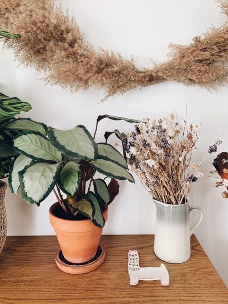 l'herbe de la pampa meuble bois fleurs séchées blog déco clem around the corner