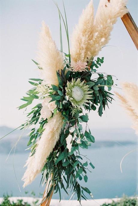l'herbe de la pampa grèce mariage decoration - blog déco - clem around the corner