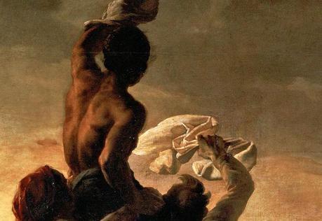 Détail du Radeau de La Méduse, de Théodore Géricault, peint entre 1818 - 1819