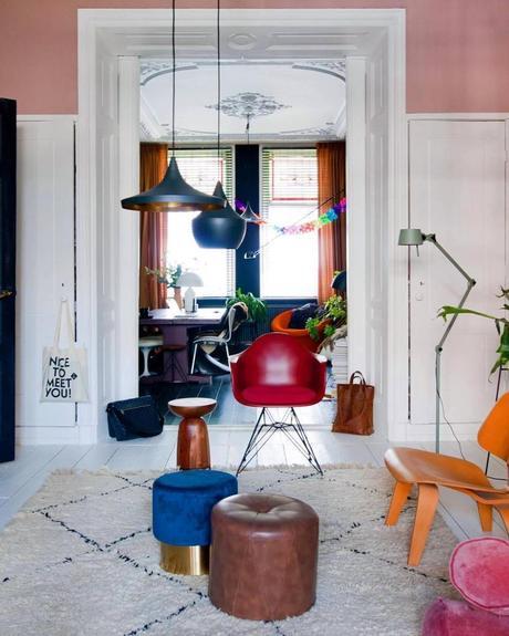 style éclectique définition couleurs fauteuil salon - blog déco - clem around the corner