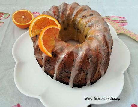Bundt cake à l'orange sanguine et aux pépites de chocolat