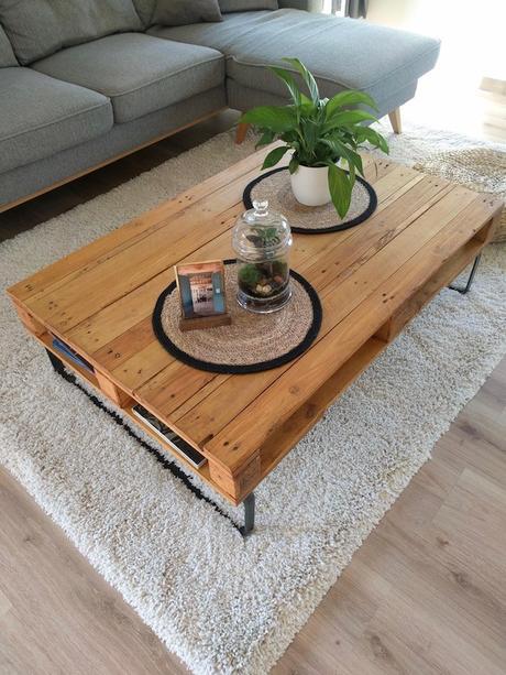 comment fabriquer table basse palette diy blog deco clemaroundthecorner