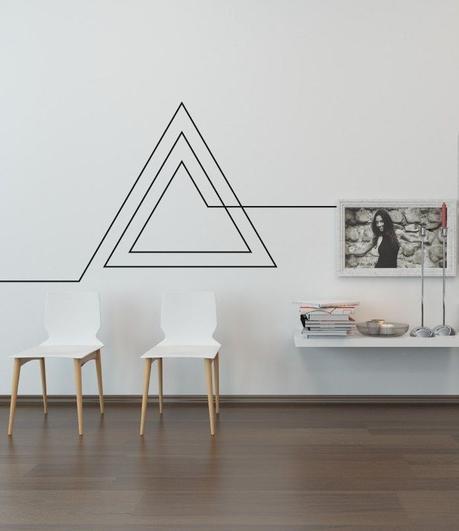 bons plans étudiant diy déco mur blanc masking tape noir - blog déco - clem around the corner