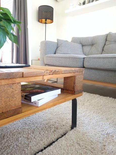 pied métal table basse palette diy blog déco clemaroundthecorner