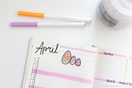 Mon Bullet Journal d'Avril | Sur le thème de pâques