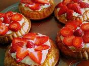 Tartelettes fraises crème chocolat blanc