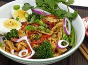 Nouilles udon sautées légumes
