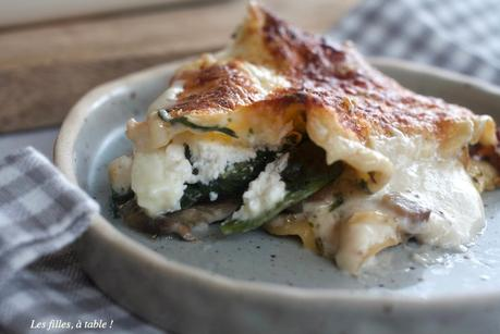 Lasagnes aux champignons, épinards et burrata – Recettes autour d'un ingrédient #49