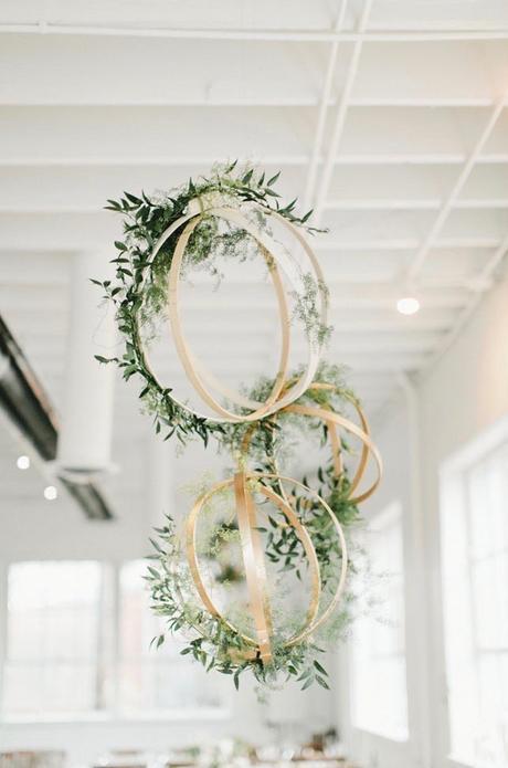 sculpture aérienne diy idée déco cérémonie romantique