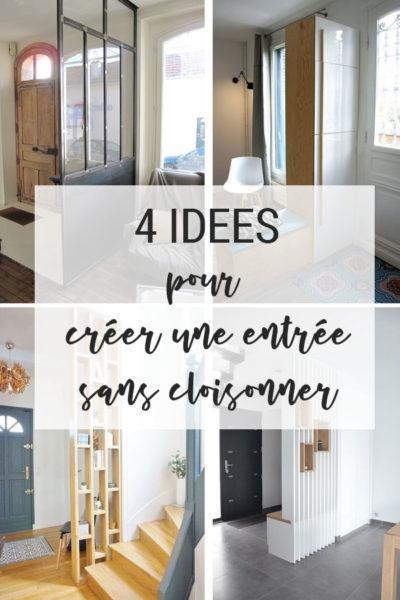 4 idées pour créer une entrée sans cloisonner