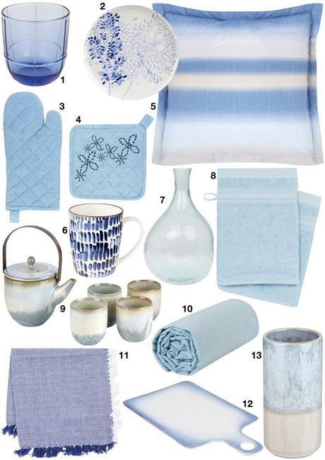 shopping déco de printemps ambiance mer marin bleu pastel - blog déco - clem around the corner
