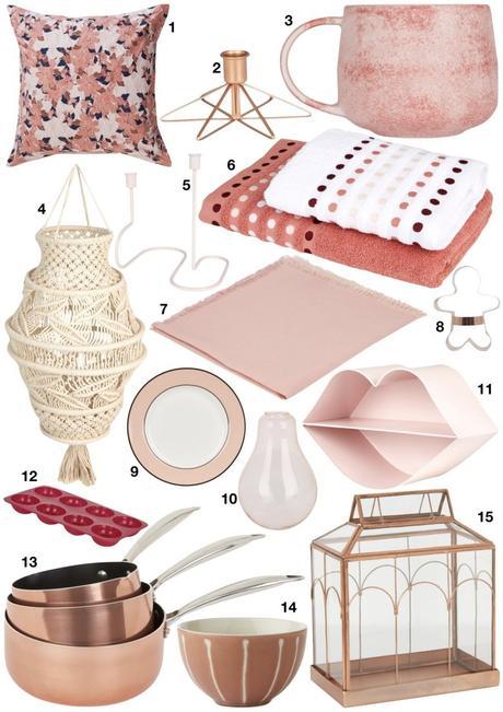 shopping déco de printemps ambiance tendance blush rose poudré décoration girly - blog déco - clem around the corner