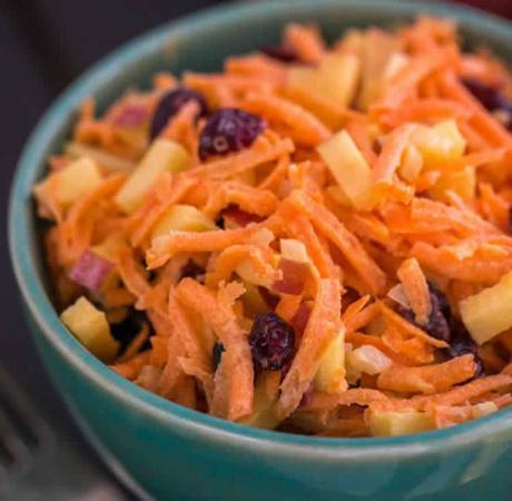 Recette salade carottes et pommes ww