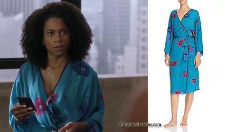 GREY'S ANATOMY : la robe de chambre en satin de Maggie dans l'épisode 15×7