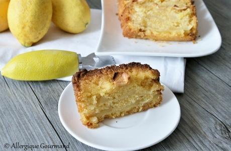 Cake polenta pommes - citron {sans gluten, sans lait, sans œufs }