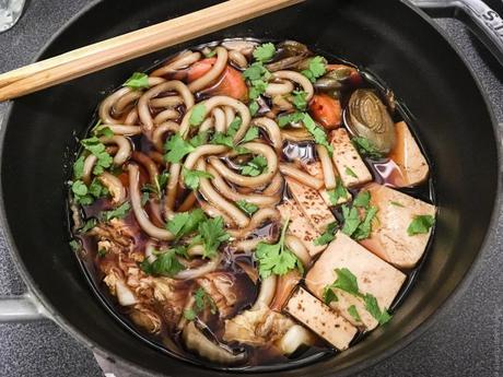 One pot à la japonaise – Sukiyaki au tofu grillé