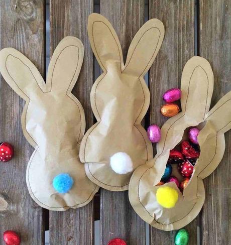 Pâques diy pochette lapin cadeaux chocolat couture surprise - blog déco - clem around the corner