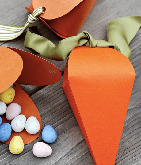 Pâques diy coffret carton orange carotte oeuf chocolat - blog déco - clem around the corner