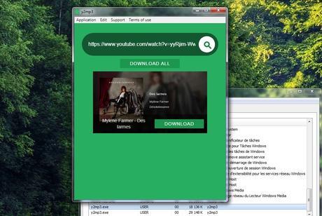 y2mp3 - convertisseur Youtube vidéo/audio