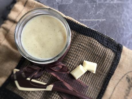 Pâte à tartiner maison au chocolat blanc recette facile au companion thermomix ou sans robot
