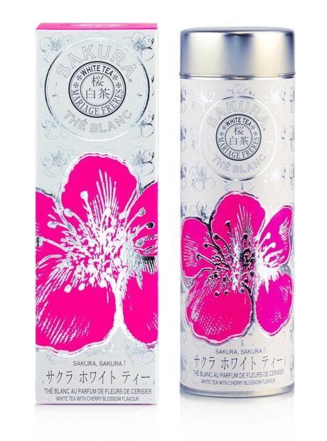 Mariage Frères thé blanc sakura fleurs de cerisier saveur fruitée packaging rose - blog déco - clem around the corner