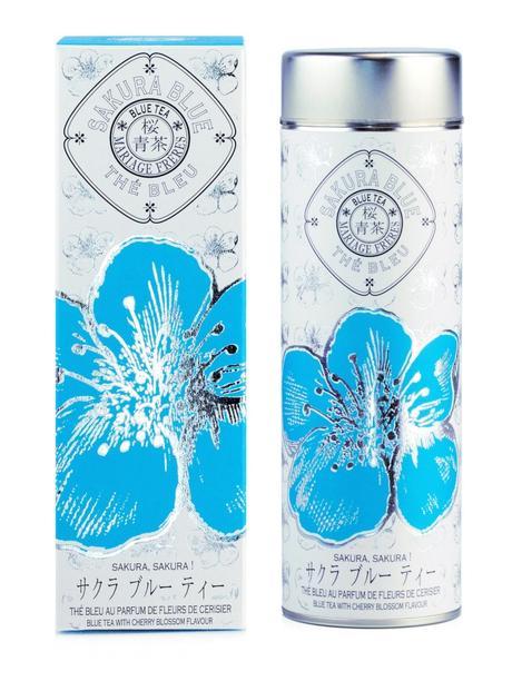 Mariage Frères thé bleu saveur fleurs de cerisier boîte fleur bleu argenté - blog déco - clem around the corner