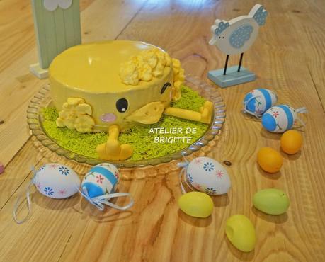 Petit poussin de Pâques (entremet)