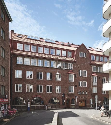 loft suédois immeuble briques rouges suède - blog déco - clem around the corner