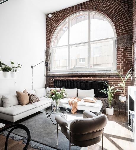loft suédois salon épuré canapé design - blog déco - clem around the corner