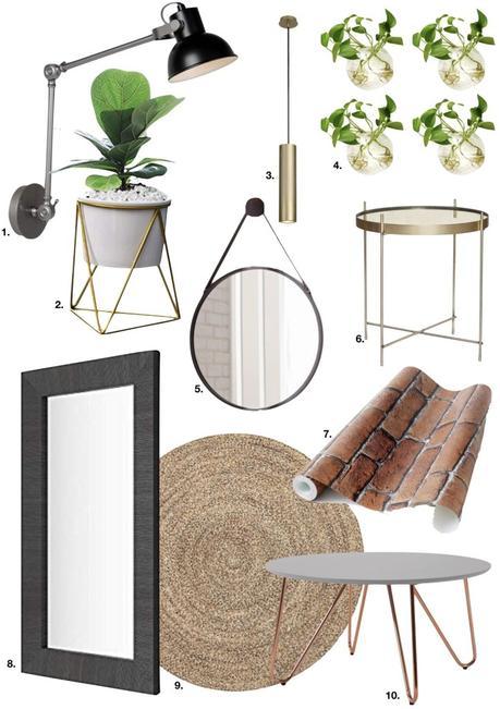 loft suédois miroir bois noir osier laiton - blog déco - clem around the corner