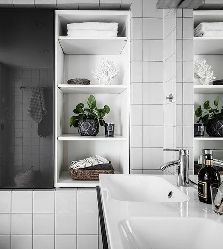 loft suédois douche double vasque blanc gris - blog déco - clem around the corner