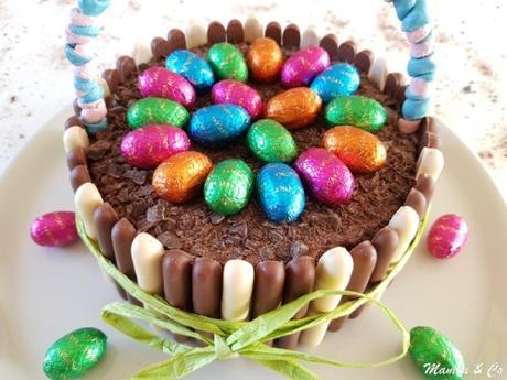 Gâteau panier de Pâques
