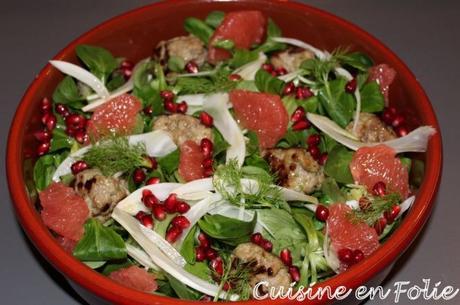Salade acidulée à l'agneau