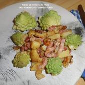Poêlée de Pommes de Terre, Chou Romanesco et Poitrine Fumée - Mes recettes et photos de gâteaux