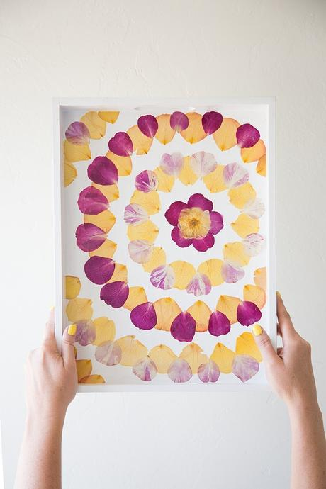 fleurs séchées diy plateau décoration originale do it yourself - blog déco - clem around the corner