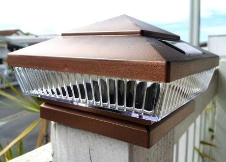 fence post lights copper solar deck post lights with 5 led low profile set of 2 fence post solar lights canada