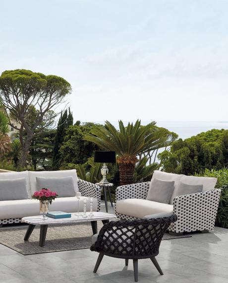 vue sur la mer forêt palmier arbres terrasse canapé fauteuil