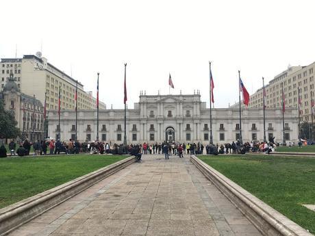L'arrivée à Santiago, au Chili