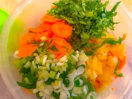 Salade de Carottes Crues  au Citron Confit