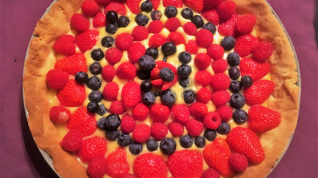 Tarte aux fruits rouges et son curd à l'orange