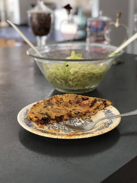 Omelette aux poivrons et chorizo