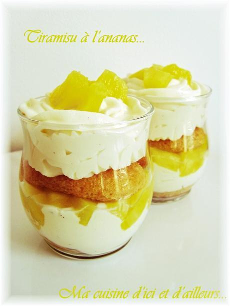 """Tiramisu"" à l'ananas..."