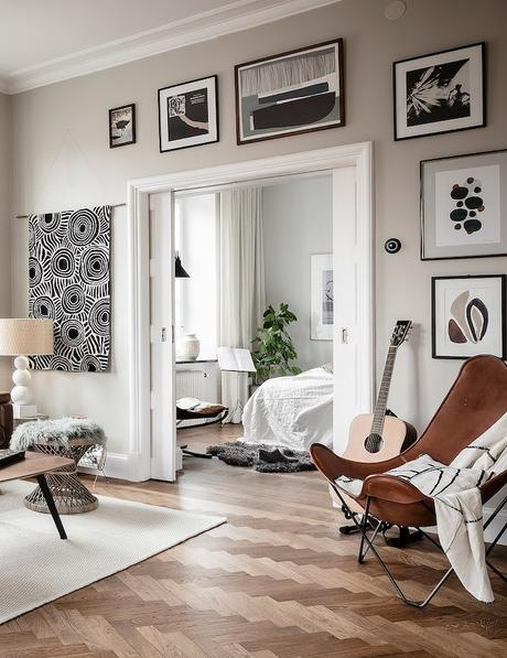 ambiance rustique salon canapé cuir rustique - blog déco - clem around the corner copie
