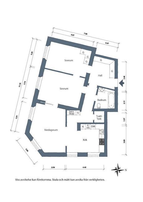 ambiance rustique schéma atypique appartement suédois - blog déco - clem around the corner