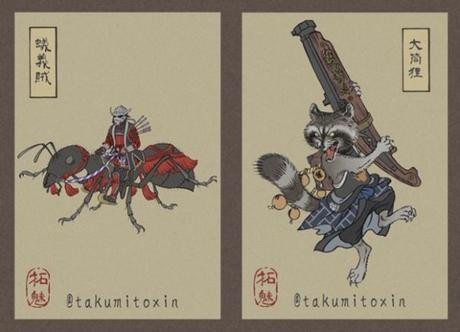 [ILLUSTRATION] : Les personnages d'Avengers Endgame revus dans le style ukiyo-e